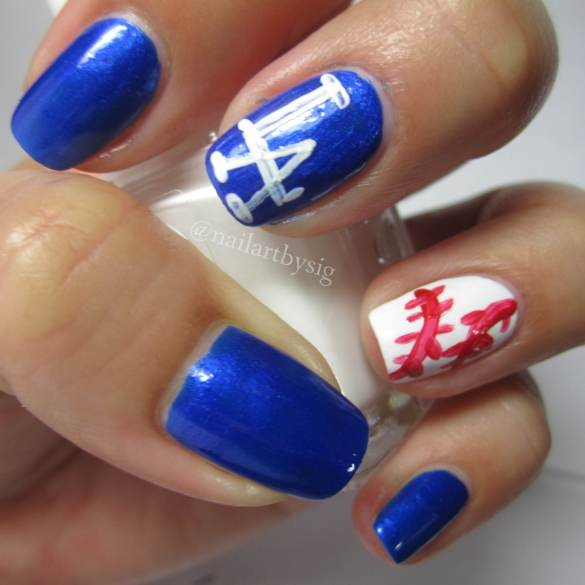 Baseball-Nails-Dodgers-Nails