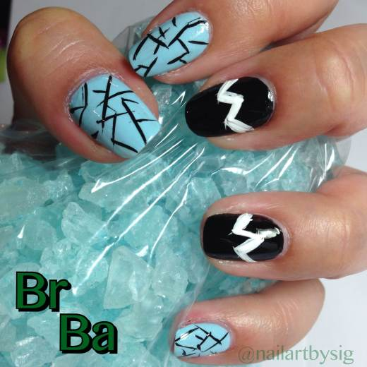 Breaking Bad Inspired Nails