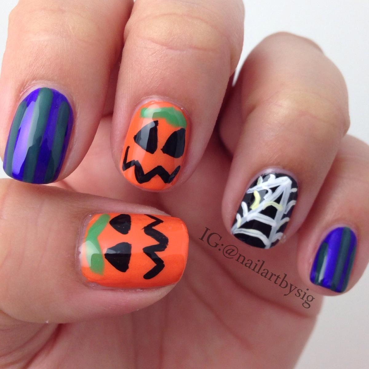 Easy Halloween Nail Art Ideas: 6 Easy Halloween Nail Art Ideas