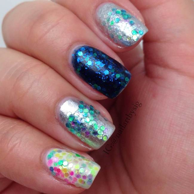 Katy Perry\'s Prism Inspired Nail Art | By Sig