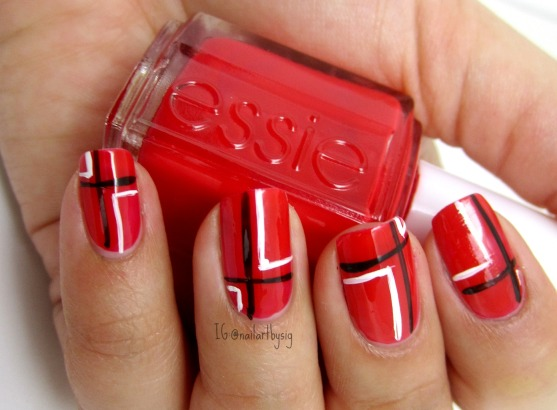 valentines-day-nails-plaid-nails