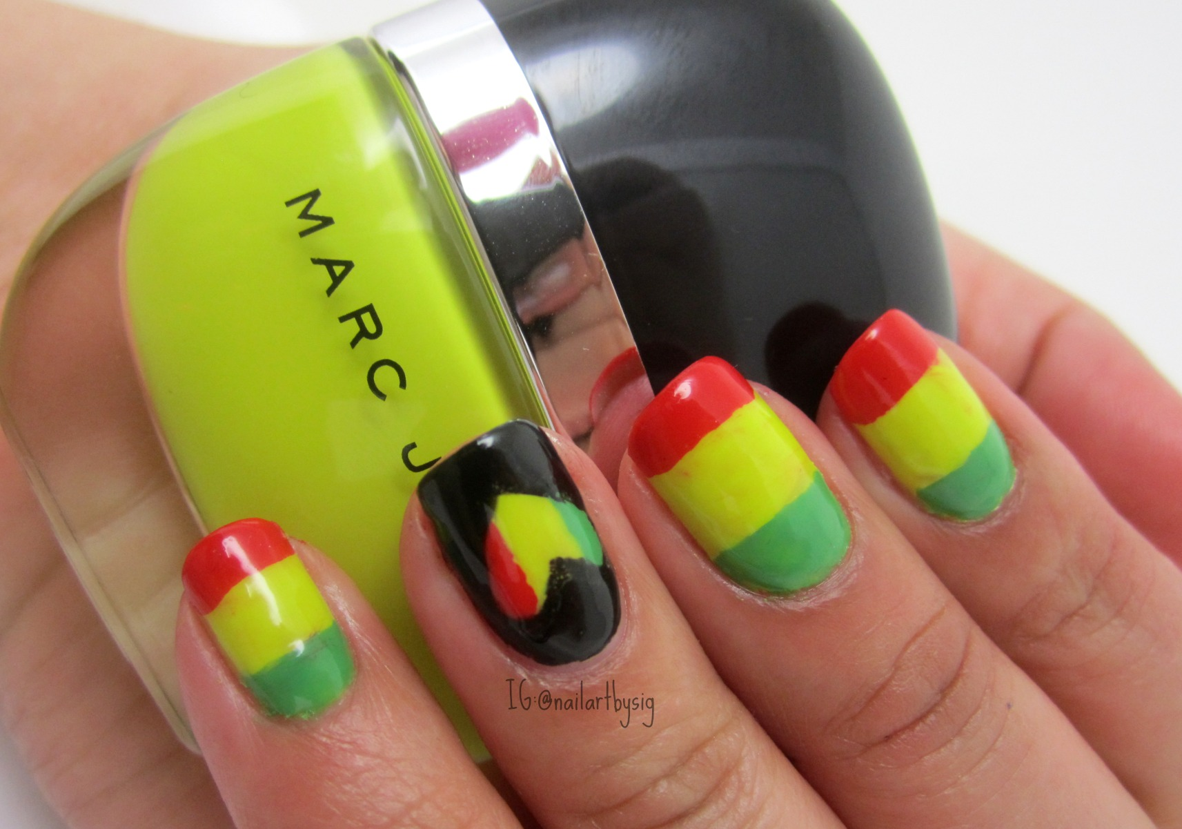 Bob Marley Inspired Nails | By Sig